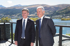 Bill English and Malcolm Turnbull in Queenstown. Picture / Mark Mitchell.