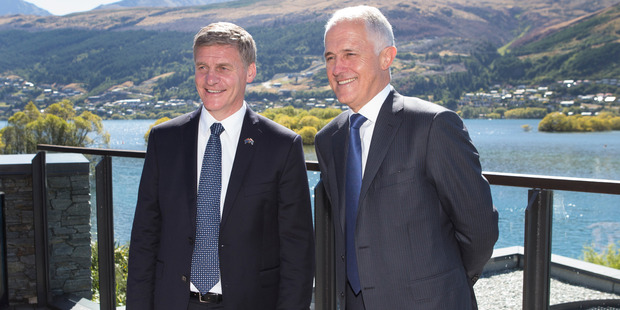 Loading Bill English and Malcolm Turnbull in Queenstown. Picture / Mark Mitchell.