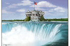 Leaks at the Trump administration. Illustration / Rod Emmerson