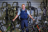 RECOVERED: Senior Sergeant Phil Gillbanks with some of the two dozen recovered bikes. PHOTO / JOHN BORREN