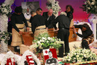 The funeral of Sione Lauaki at Church Unlimited, Te Atatu, Auckland. Photo / Nick Reed