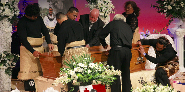 Loading The funeral of Sione Lauaki at Church Unlimited, Te Atatu, Auckland. Photo / Nick Reed