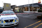 A police cordon at the McDonald's on Victoria Ave, Whanganui, in June 2015. Photo / Stuart Munro
