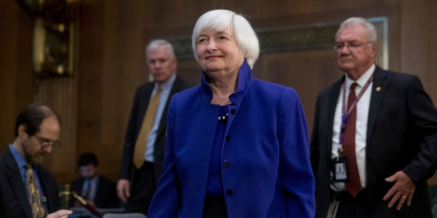 Federal Reserve Chair Janet Yellen arrives on Capitol Hill in Washington, to testify before the Senate Banking Committee. Photo / AP