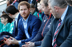 Prince Harry delights rugby supporters
