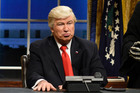 Alec Baldwin as President Donald Trump in the opening sketch of Saturday Night Live. Photo / AP