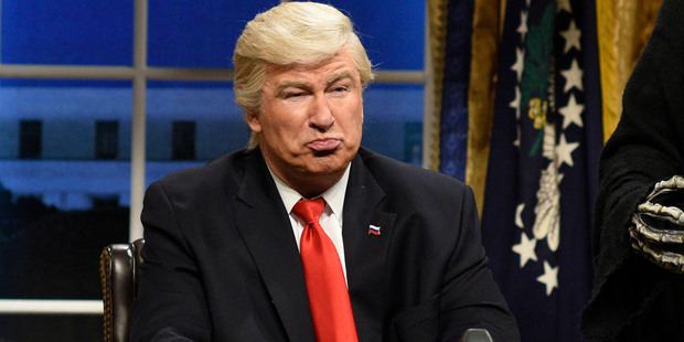 Loading Alec Baldwin as President Donald Trump in the opening sketch of Saturday Night Live. Photo / AP