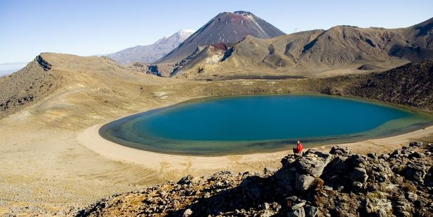 A review to improve the experience and manage growing visitor numbers on the Tongariro Alpine Crossing is underway.  Photo/File