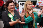 Denise Roche (right) will represent the Green Party in Auckland Central.