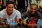 Sonny Bill Williams, left, and Anthony Mundine share a love of boxing. Photo / Christine Cornege