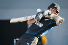 Luke Ronchi is bowled by Michael Starc during New Zealand's match against Australia at the 2015 ICC Cricket World Cup. Photo/Greg Bowker