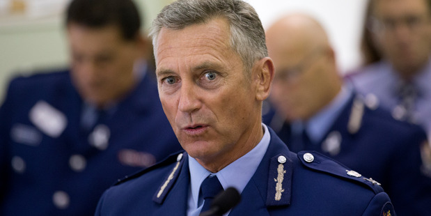 Police Commissioner Mike Bush appeared before a select committee at Parliament this morning. Photo / Mark Mitchell