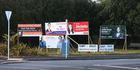 Mt Albert byelection billboards in Auckland.  Photo / Doug Sherring