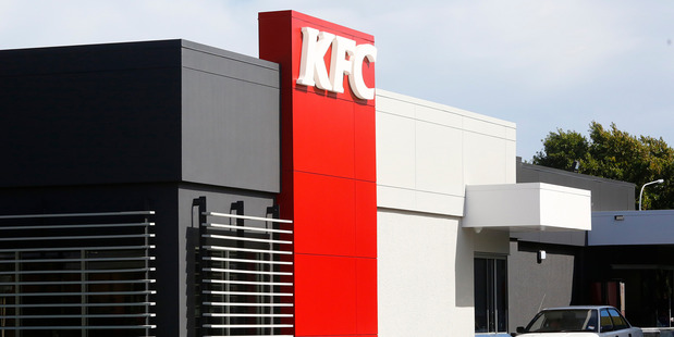 The KFC restaurant in Whanganui which was closed on Sunday due to staff shortages.