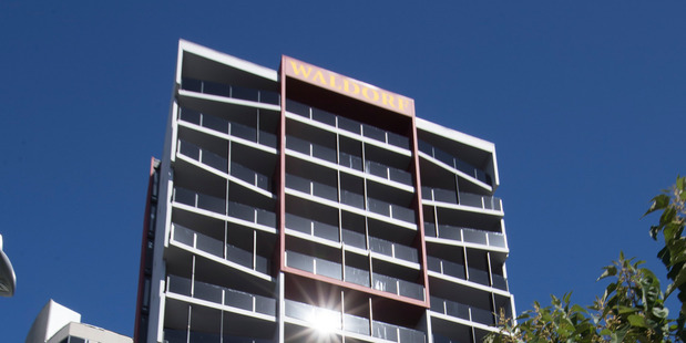 Waldorf Celestion Apartment Hotel on Anzac Ave in Auckland. Photo / Brett Phibbs.