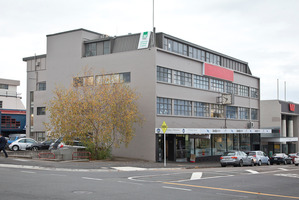 The old Tauranga Electric Power Board building in the CBD could be redeveloped to include two floors of public leased carparks. PHOTO/FILE