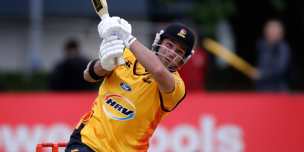 Wellington  had good success out of their lower order batsmen such as hard-hitting Matt Taylor and veteran Luke Woodcock. Photo / Sarah Ivey