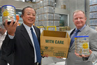 Xu Jun, Chairman China State Farms Holdings Shanghai and Geoff Babidge Chief Executive Officer of A2 Corporation. Photo / File