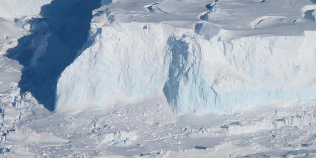 An edge of the Thwaites Ice Shelf. The Thwaites Glacier is already contributing 10 per cent of all global sea level rise. Photo / NASA