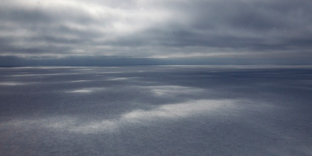 A general view looking over the sea ice in front of New Zealand's Scott Base on Ross Island in Antarctica. Photo / File