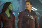 Marvel's Guardians Of The Galaxy starring Zoe Saldana and Chris Pratt. Photo / Supplied