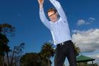National's Epsom candidate Paul Goldsmith in training. Photo / Jason Oxenham
