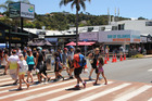 Tourists in Paihia during the peak holiday season in December and January. Their numbers are expected to grow further in future. Photo / Peter de Graaf