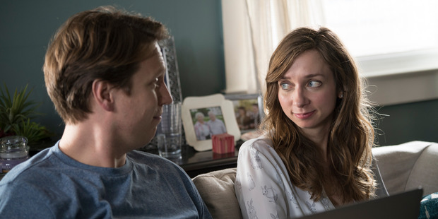 Pete Holmes and Lauren Lapkus star in Crashing.