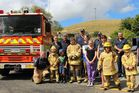Norsewood volunteer firefighters, new recruits and family attend last Saturday's open day.