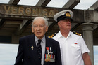 HISTORY:WW2 veteran and architect Guy Natusch (left) and Neville Smith (right), representing the navy. Mr Natusch will be ringing the Veronica Bell at Sunday's commemorative service.PHOTO/PAUL TAYLOR.