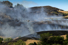 Fire crews worked overnight to battle a Waimarama fire which started yesterday. PHOTO/WARREN BUCKLAND