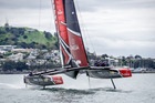 Emirates Team New Zealand took their new America's Cup race boat for its first test run this week. Photo/ETNZ