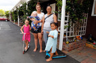 Whangarei mothers Janie Davis, second right, with daughter Dynahlee Toeke, 4, and Renee Shelford with daughter Elizabeth Roze, 5, and son Lyrell Marino Victor Te-Tai, 5 months.