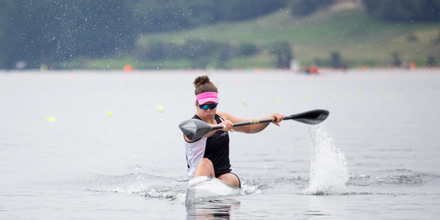 WARM FAVOURITE: Hawke's Bay Olympian Aimee Fisher digs deep in preparation for the kayaking nationals this weekend. PHOTO/DSCRIBE MEDIA SERVICES