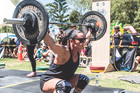 Whangarei mum Rochelle Record dominating the field at the Fittest Mum competition at Parakai Springs in Auckland. Photo/Nykie Grove-Eades