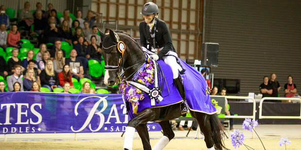 Wendi Williamson rides Deja Vu MH in the  Grand Prix Musical Freestyle  during the 2017  NZ Dressage Championships at Feilding. Photo / Libby Law Photography