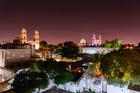 Night scene of Mérida Yucatan.