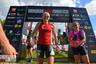 Rotorua's Katrin Webb, winner of the women's 87km race at the 2017 Tarawera Ultramarathon in unusual circumstances. PHOTO/photos4sale