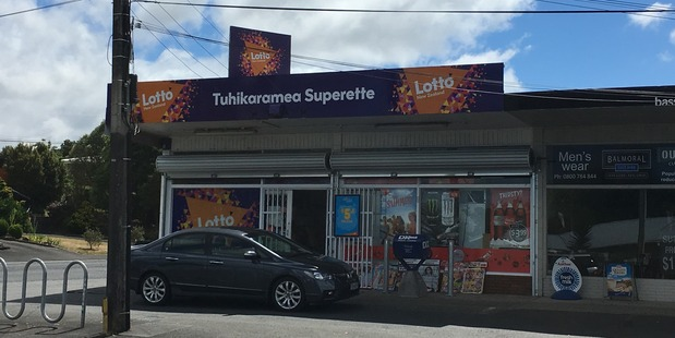 Tuhikaramea Superette in Dinsdale was robbed by two men armed with crowbars on Saturday night. Photo / Nikki Preston