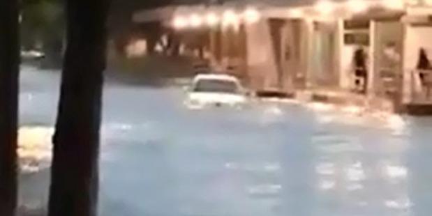 Loading Flooding in Kawerau overnight.  Photo/Supplied