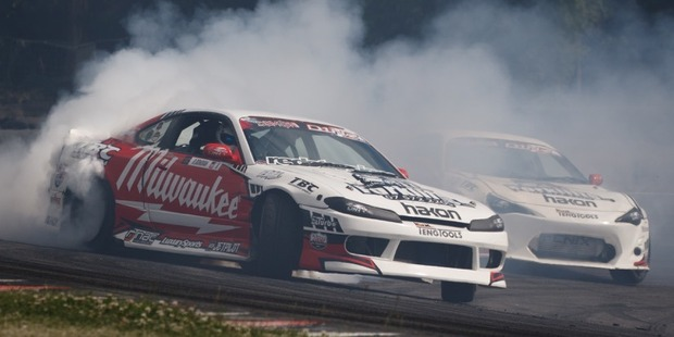 Drew Donovan leads Jodie Verhulst at round two of the series at Manfeild Circuit Chris Amon. Photo / Supplied