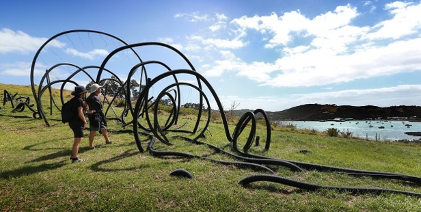 Sculpture On The Gulf on Waiheke Island. Photo / Doug Sherring