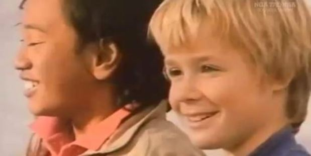 Loading Steve Askin as a 10-year-old in the video. Photo / via video