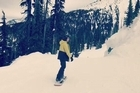 In this video posted to his Instagram account, Brooklyn Beckham shows the moment he breaks his collarbone while snowboarding.