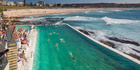 The beach pool and Bondi Beach in Sydney. Photo / Getty Images