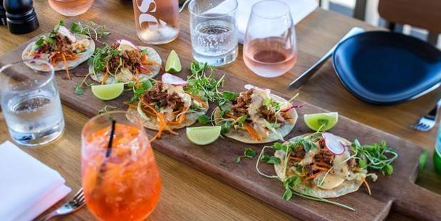 The pork tacos at Porch, St Heliers. Photo / Babiche Martens