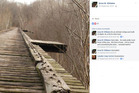 Four years ago Anna Williams posted on Facebook the picture of the old bridge where her daughter was abducted. Photo / Facebook