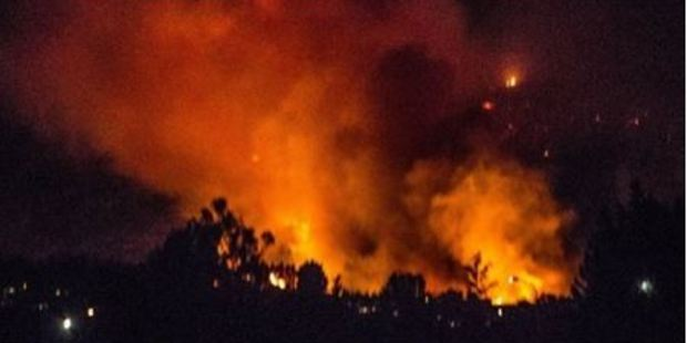 Fire crews could only monitor the fire overnight.