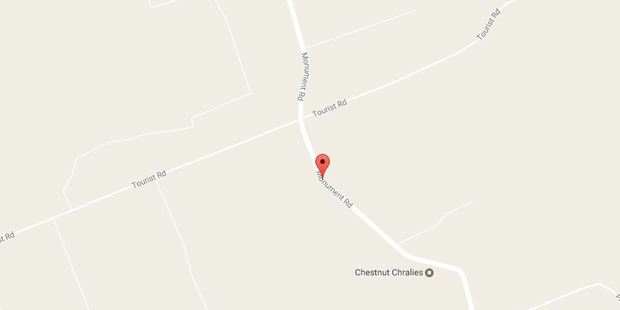 Two cars collided just after 9.30am on the corner of Monument Road and Tourist Road. Photo / Google Maps
