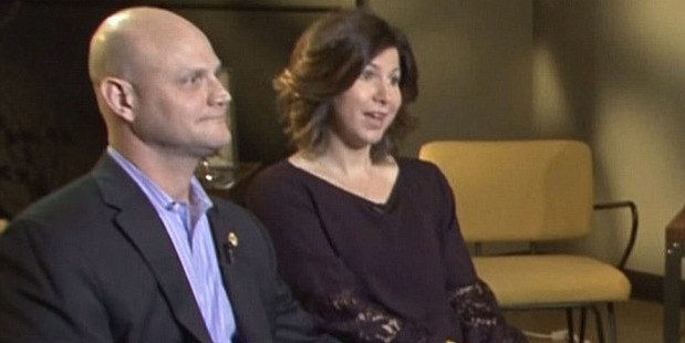 Scott and Michelle Schwab (above) gave their first interview since the tragic death of their son Caleb on Good Morning America. Photo / Good Morning America